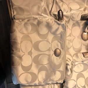 Authentic foldable Coach tote bag
